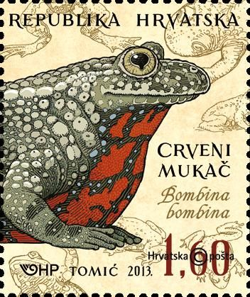 Croatia stamps | FIRE SALAMANDER (stamp with nominal value of 3.10 kn)