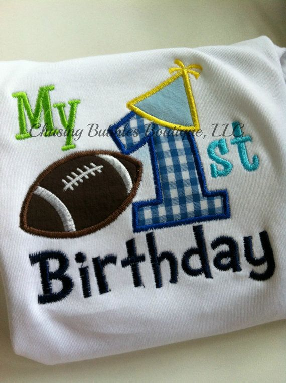 My First Birthday Boys Football Shirt By ShopChasingBubbles 2195
