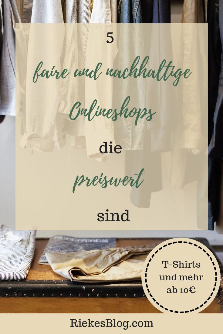 Fair Fashion kann teuer sein, muss es aber nicht. Faire T-Shirts ab 10€? gibt …