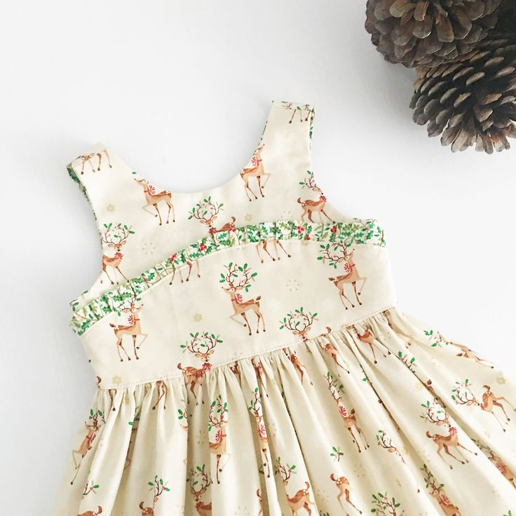 Christmas dress, tea party dress, girls dress, toddler dress