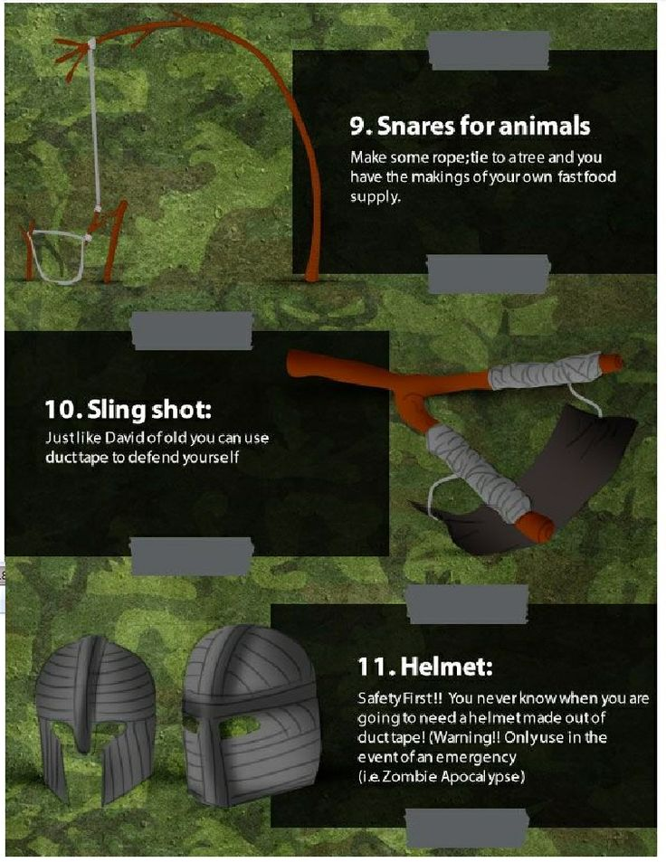 12 Duck Tape Survival uses.. page 4
