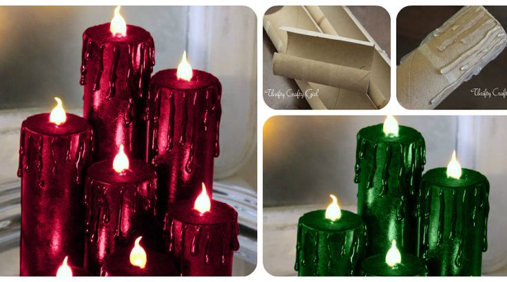 Making Faux Christmas Candles is a fun and easy craft project that looks amazing when lit. You can make these as gifts or for decorating your own home.