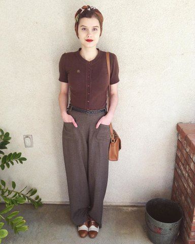"""vintage """" 40 """" style - Rougette Claudine"""