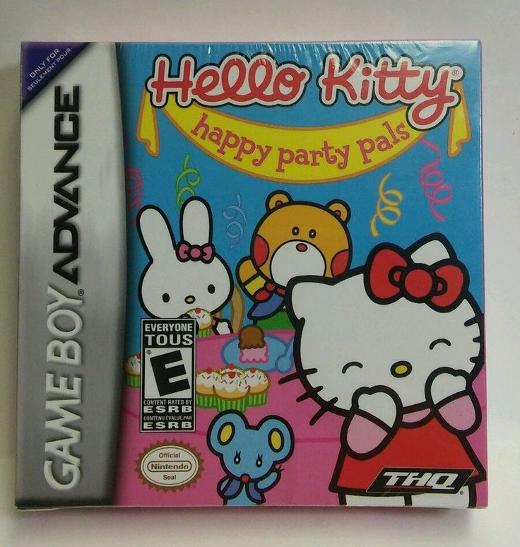 Hello Kitty: Happy Party Pals Nintendo Game Boy Advance (2005) New, Sealed, NIP