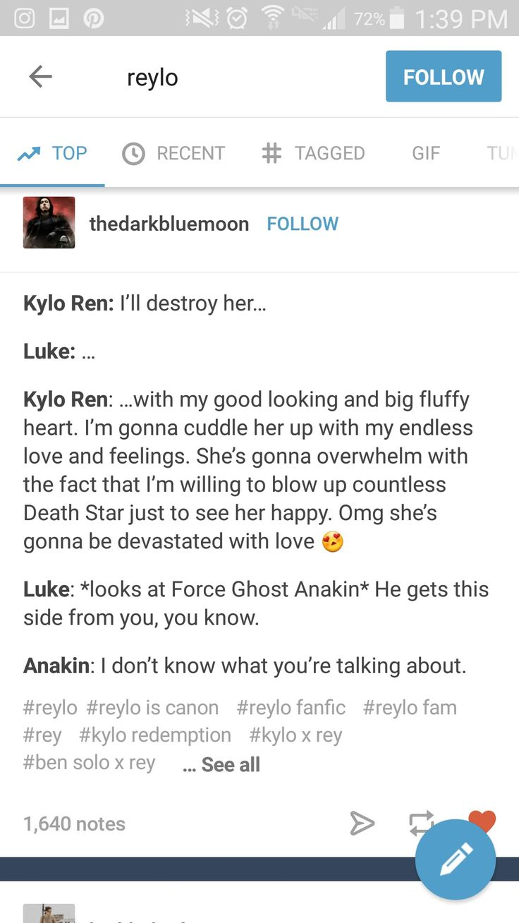I just can't... this is most definitely truth... Kylo gets it from the Skywalker side... ✨#starwars