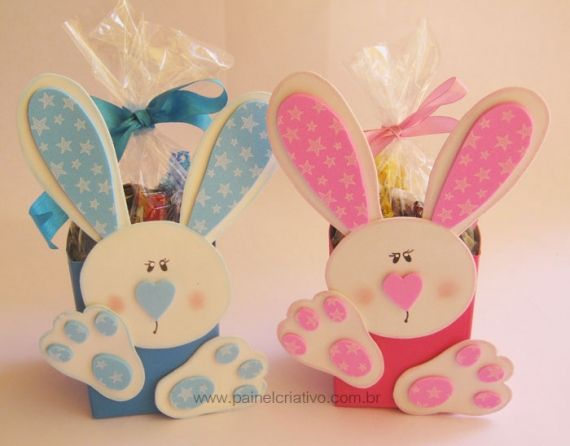 Cestas de Páscoa passo a passo: Of Leit Box, Easter, Easter Gifts, Milk Cartons, Paper Boxes, Bunnies, Easter Treats, Gifts Boxes