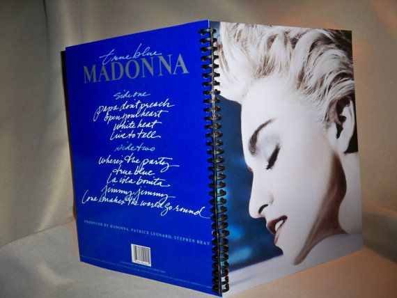 Madonna True Blue Album Cover Notebook by ReallyCoolNotebooks, $12.00