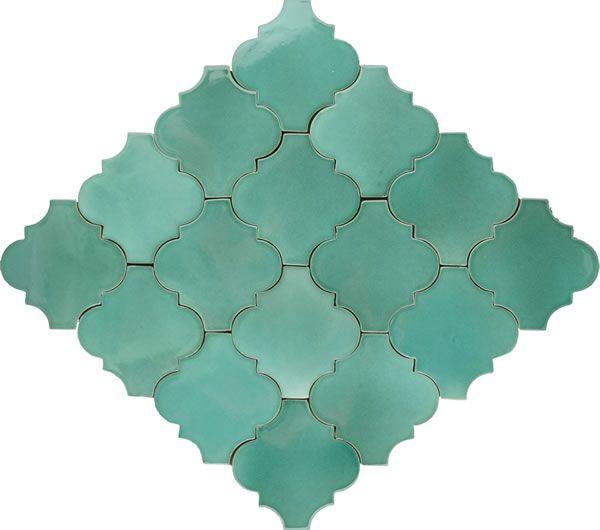 master bath--Mexican Tile - Light Green Andaluz Terra Nova Mediterraneo Ceramic Tile