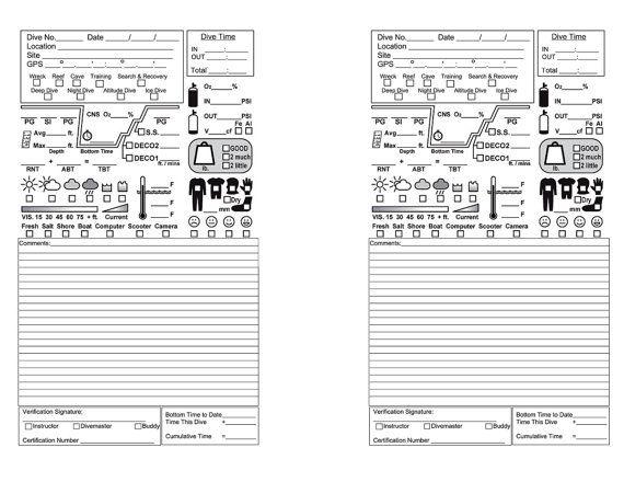 Custom diving book scuba diver padi logbook diver helmet dive log book scuba diver journal - Dive log book ...