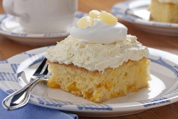 Pineapple Cream Cake | MrFood.com