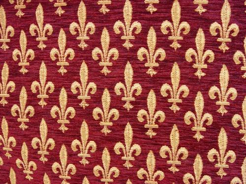 Fabric in fleur de lys design - TISSU-Bx | Fleur-de-Lys