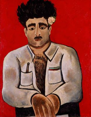 """Marsden Hartley Adelard the Drowned, Master of the """"Phantom"""", circa 1938–39. Oil on board 28 x 22 inches. Frederick R. Weisman Art Museum, University of ..."""
