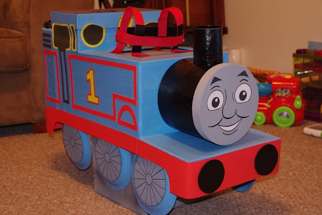 thomas the train costume with easy tutorial