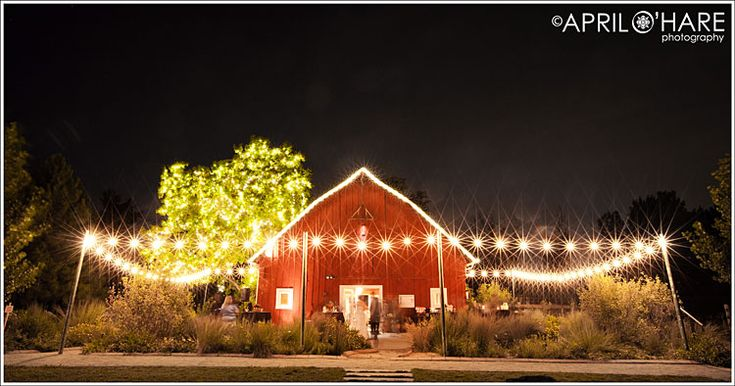 Night Photo Of Green Farm Barn At Chatfield Botanic Garden Wedding Ill Be Married Some Day