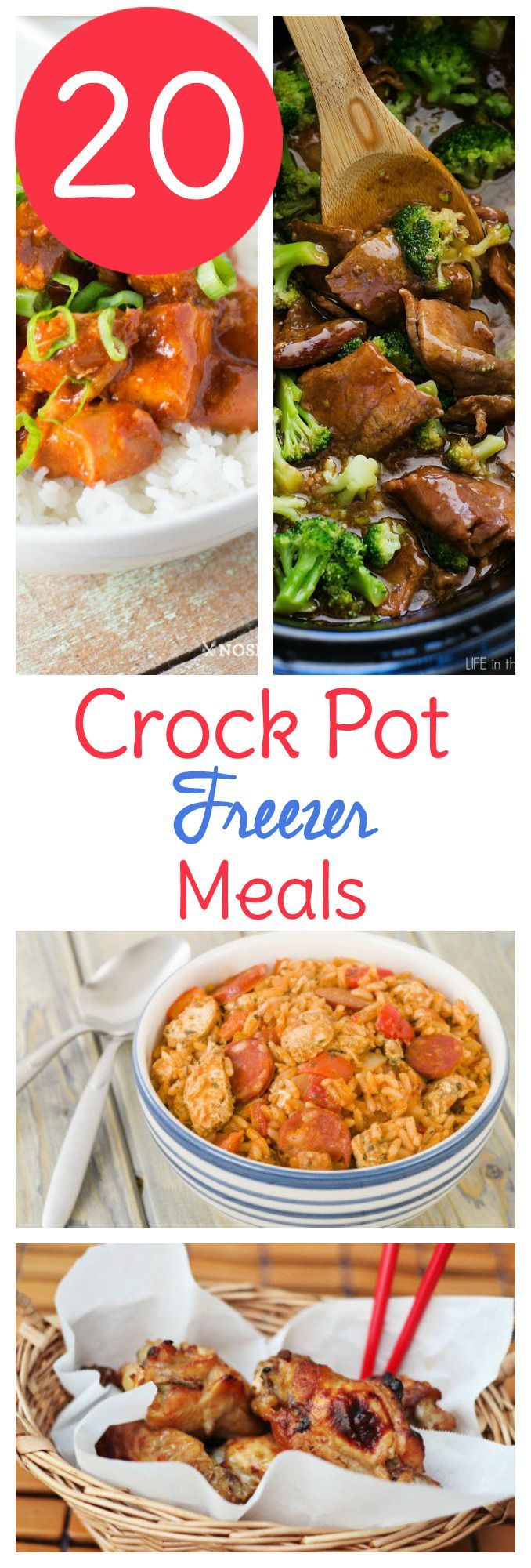 10 Easy Crock-Pot Freezer Meals. One of the best ways that I know how to save both time and money is to spend a day prepping meals ahead of time and stashing them away in my freezer for those crazy busy days when I know that I am not going to have time to plan, shop and cook dinner.