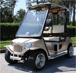 We sell, modify, customize and repair both used and new golf carts and carry a large inventory of parts and accessories for you to fix up and deck out your golf cart. Here you will find everything you need from wheels, tires, batteries, brakes and belts to lift kits, lights, covers, bumpers, mirrors and more.