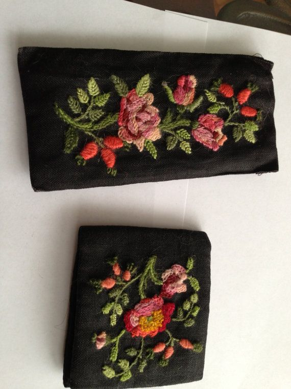 Vintage floral needlework needlepoint by oodlesofrandomstuff