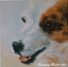 Picollo the Jackrussell, Acrylic on canvas 30 x 30cm