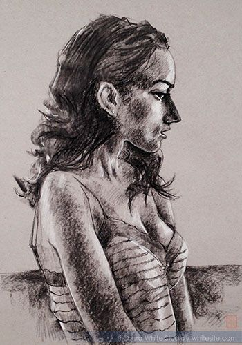 Study 1603 Charcoal on paper by Richard White