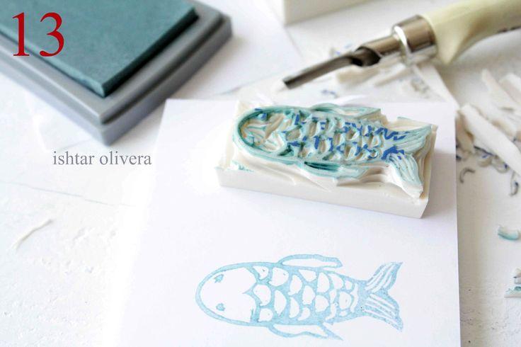 Stamp Carving 5: Ishtar Olivera, Diy'S Tutorials, Handmade Stamps, Diy'S Idea, Stamps Carvings, Diy'S Stamps, Carvings Tutorials, Art Projects, Crafts