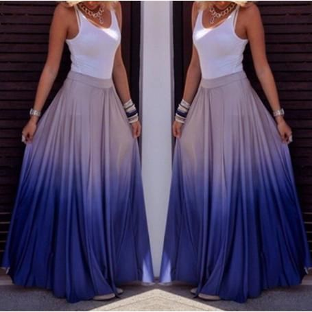 new fashion women colorful casual long skirts
