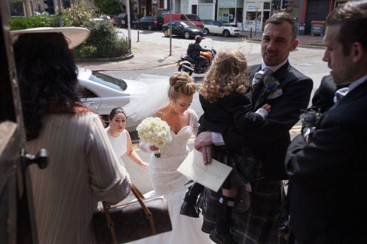 Brides arrival, St. Stephens church, Edinburgh