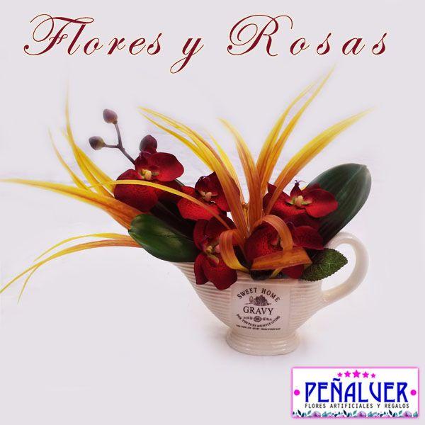 34 best Centros de flores artificiales para decorar images on