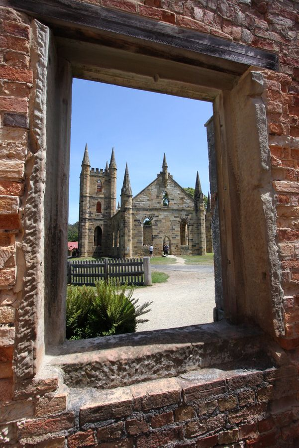 Prison Colony Church Port Arthur - Tasmania, Australia. You have to visit this place. Spent a day here. Such a stark and cruel history in such a beautiful setting.