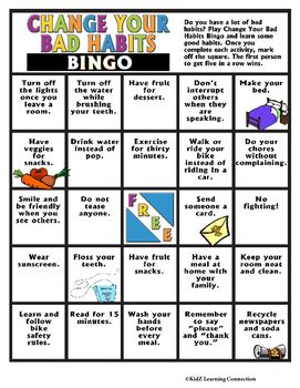 This fun activity challenges students to change their bad habits into good…