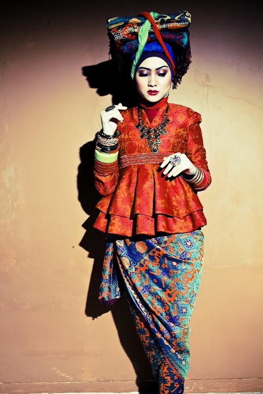 songket blazer and sarong