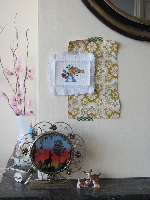 Les Mémoires de Pip Ros: A bird, a vintage deer lamp, a vintage wallpaper, a love, a thought, a dream, a wish......