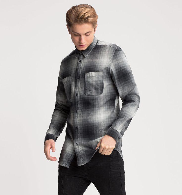 Flanellhemd in grau