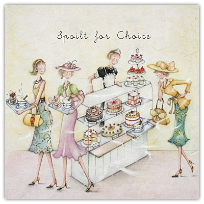 Spoilt For Choice Berni Parker Designs Card. £2.75 - FREE Postage!