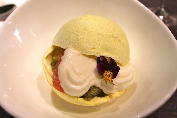 Yuzu Meringue, Green Tea Cake, Coconut-Pandan Broth & Grapefruit | Chef Andy Nhan Dinner - Art for Food