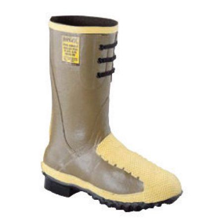 Servus by Honeywell Size 11 Flex-Gard Brown 12 inch Rubber Flexible Metatarsal Guard Boots With Trac Tread Outsole And Steel Toe