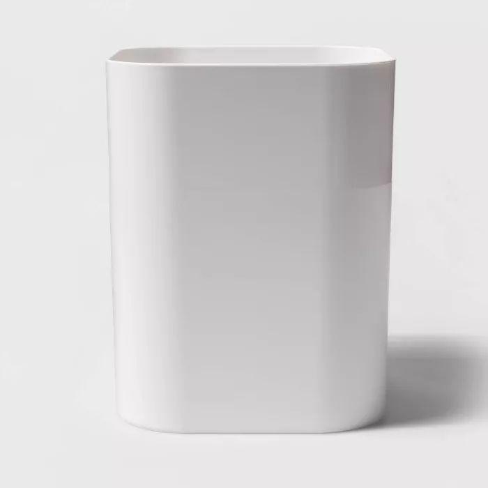 plastic bathroom wastebasket true white  room essentials