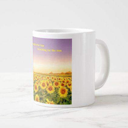 Jumbo Mug - Field of Sunflowers - decor gifts diy home & living cyo giftidea