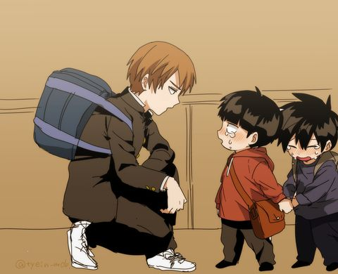 Mob Psycho 100   Shigeo, Ritsu, and Reigen