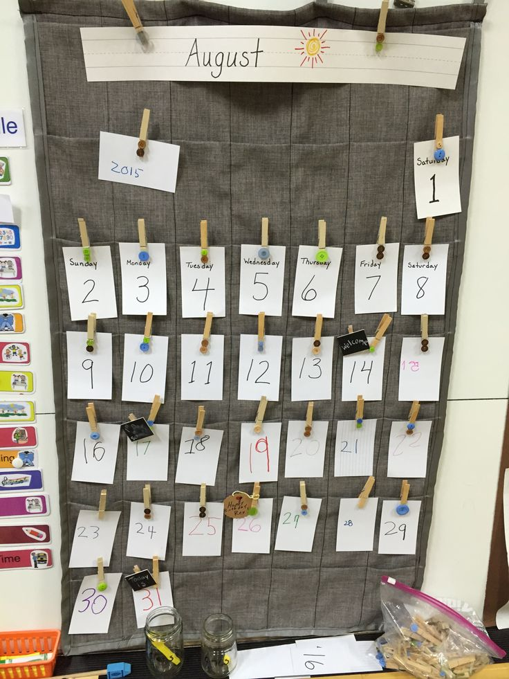Calendar Design For Kindergarten : Reggio emilia inspired classroom calendar