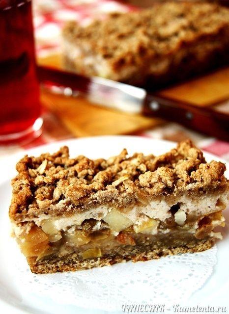 Рецепт пирожного из овсянки с яблоком и йогуртом