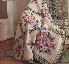 Cross stitch on Tunisian Crochet