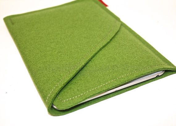 iPad Mini Wool Felt Case Double Pocket in by PinsnNeedlesCases