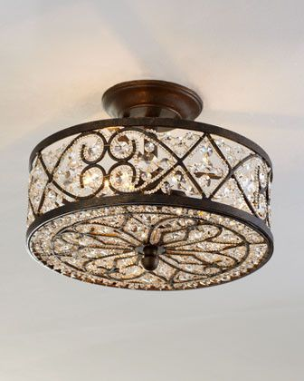 My Search for 12 Beautiful Flush Mount Ceiling Lights