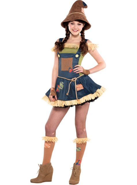 Sweet Scarecrow Costume for Teen Girls - Party City