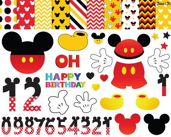 47 Mickey Mouse ClipartMickey Party ClipartMickey by JaneJoArt