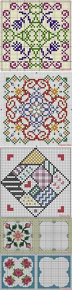 "Cross-stitch Biscornu Sets ... no color chart available, just use pattern chart as your color guide.. or choose your own colors...  Бискорню. Схемы.: Дневник группы ""Клуб рукоделия"" - Страна Мам"