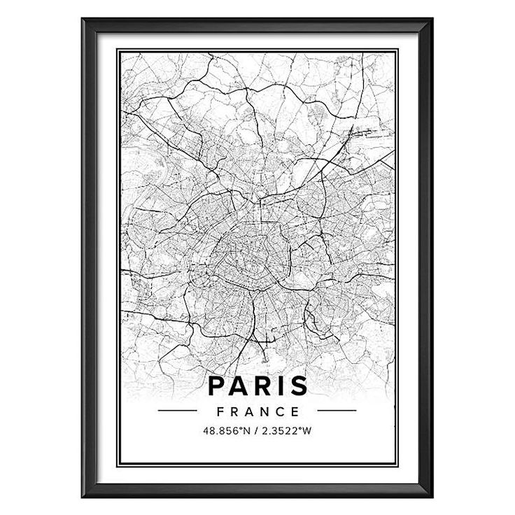 Dream of all things that are French and fabulous with the Paris Map Print Art from Mapiful.