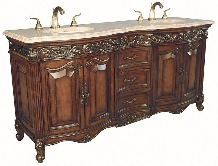 46 best double antique bathroom vanities images on Cheap bathroom vanities double sink