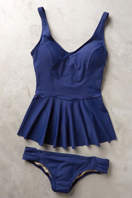 Mix-And-Match Peplum Tankini - anthropologie.com #anthrofave