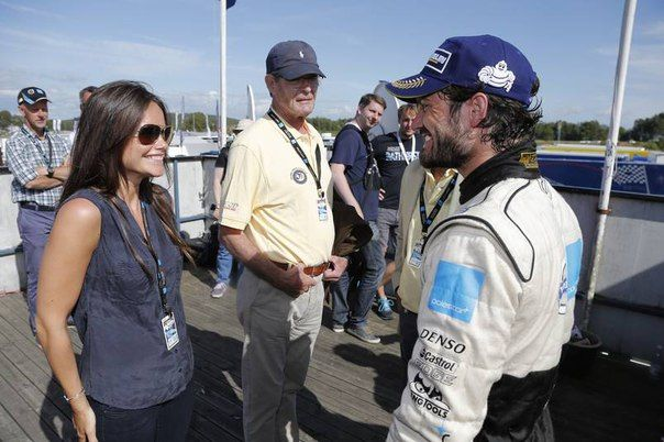 "July 11, 2015..swedishmonarchy: Prince Carl Philip was racing again today and with success. He namely won the second round in Falkenberg, which is his first win in STCC. Prince Carl Philip told the press: ""It feels really lovely. Finally! It feels pretty damn beautiful, terribly beautiful."" The Prince celebrated his victory with champagne and cheers of victory. Once again proud father King Carl Gustaf was there to cheer on his son. And also his new wife Princess Sofia who brought their dog…"